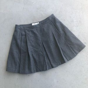 Vineyard Vines Grey Wool Blend Pleated Skirt